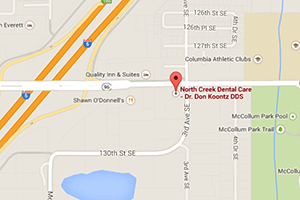 Map to North Creek Dental Care